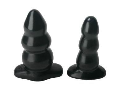 "Small 5"" Smooth Triple Bump Bubble Butt Plug Anal Dildo"