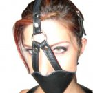 Leather Head Mouth Face Harness w/ Ball Gag Bondage NIB