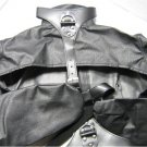 Black Leather Open-Chest / Nipple Bondage StraitJacket