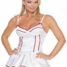 Sexy Red Striped Nurse Outfit Costume w/Thong & Hat NEW