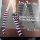 Sexy Punk Rock Goth Emo Striped Woven Skull Design Knee-Hi Socks- Great Fall Accessory
