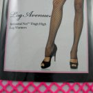 Hot Pink Sexy Punk Rock Goth Emo Footless Open Fishnet Thigh-High Leg Warmers - Halloween
