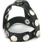 Strict Leather Snap-On Cock Ring & Ball Harness Bondage