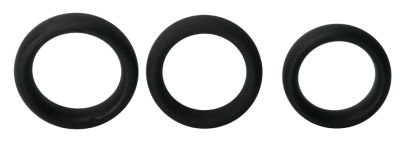"""1 and 7/8"""" Black Thick Tantus Silicone Cock Ring Increase Erection"""