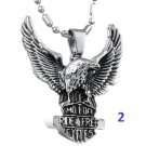 new Fashion Titanium Stainless steel hawk eagle pendant necklace