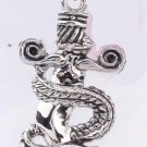new Antique 316L Stainless Steel Sword Snake serpent charm pendant necklace free shipping