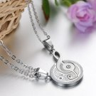 Fashion 316L Stainless steel couple Puzzle Music Note love for him and her necklace FRE
