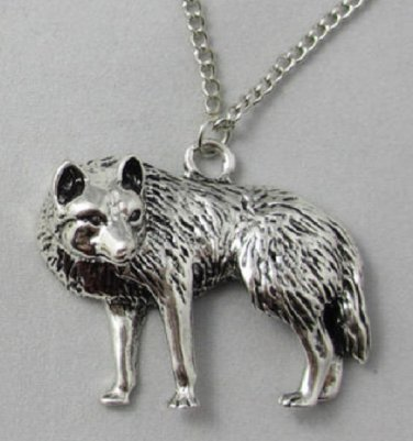 new Fashion full body Wolf charm pendant necklace free shipping