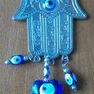 New dreamcatcher Shiny Hamsa blue evil eye heart glass charm weaving  free shipping