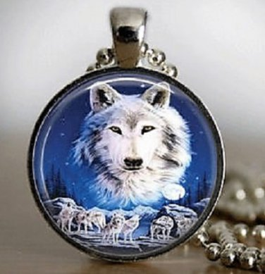 New Fashion Native American Wolf Stereoscopic charm Unisex Pendant Silver color Necklace