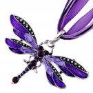 New Fashion Dragonfly Rhinestone Crystal charm necklace