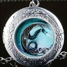 Adorable Magic Dragon Open Locket Chain Necklace