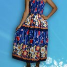026 Boho Floral Print Smock Sleeveless Sundress