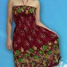214 Boho Halter Smock Floral Print Sundress Skirt