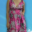 004 Boho Summer beach V neck floral print sundress Top