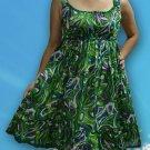 139 Boho Summer beach Scoop neck Floral print sundress Top Blouse