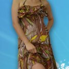 058 Boho Halter Ruffle bust Floral Sundress Top Blouse