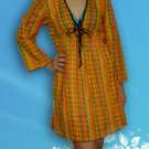 090 Boho Summer Beach Tunic swim suit cover-ups dress Top Blouse