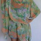4006 Caftan Kaftan Kimono Tunic Cover-ups Blouse Top M L XL 2XL