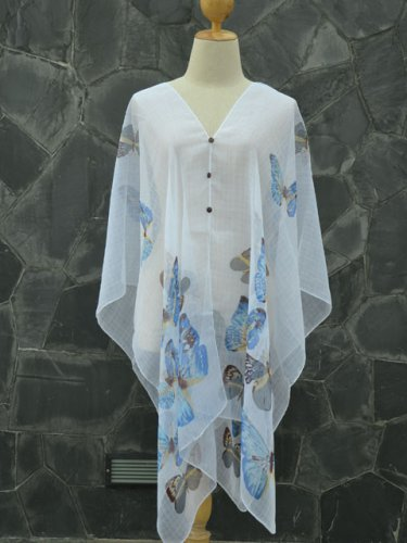 558 Scarf Kaftan Caftan Kimono Sleeves Tunic Beach Cover-ups swim suit Top