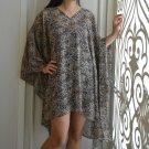 4037 Caftan Kaftan Kimono Tunic Cover-ups Blouse Top M L XL 2XL 3XL