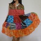 PW01 Multi-colors Patchwork Dress Top Tunic S M L