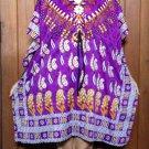 60 Vintage Kaftan Caftan Tunic Kimono V-Neck Top Blouse Dress M L XL