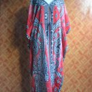 5027 Vintage Long Kaftan Caftan Tunic Kimono V-Neck Top Blouse Dress M L XL