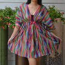 301 Boho Floral Caftan Kaftan Kimono Tunic Cover-ups Dress Top Blouse