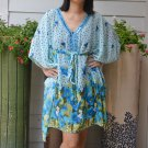 3030 Floral Chiffon Caftan Kaftan Kimono Tunic Cover-ups Top XL
