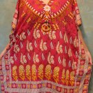 86 Vintage Kaftan Caftan Tunic Kimono V-Neck Top Blouse Dress M L XL