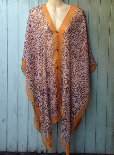 08 Scarf Kaftan Caftan Kimono Sleeves Tunic Beach Cover-ups swim suit Top