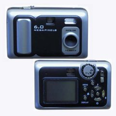 Digital Camera, Flash Light, 6.0M Pixel, 32MB build-in, SD/MMC