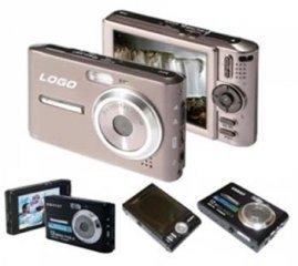 Digital Camera, 12M Pixel, 3.0-inch LCD, 32MB Int.Mem, SD/MMC