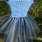 HANDMADE SMOKEY BLUE/ BLACK TUTU DRESS