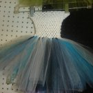 HANDMADE  WHITE/TURQUOISE/BLACK TUTU DRESS