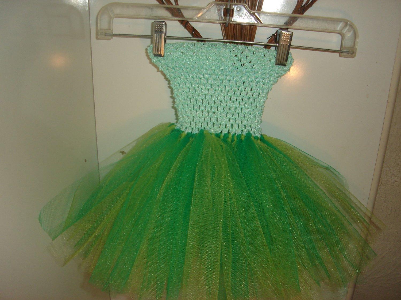 HANDMADE EMEARALD /APPLEGREEN TUTU DRESS