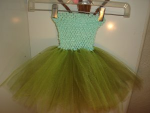 HANDMADE OLD WILLOW / GREEN APPLE TUTU  DRESS