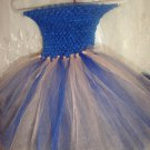 HANDMADE ROYAL BLU/ PEACH TUTU DRESS