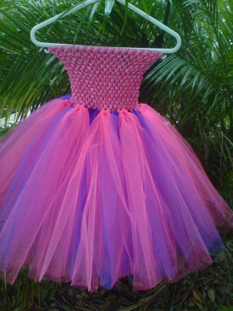 HANDMADE LiL Diva SHOCKING PINK/PURPLE TUTU DRESS  SIZE 2T TO 6x  3 for $53.15