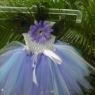 HANDMADE Flower/PEACOCK FEATHERS TUTU DRESS SIZE 6MONTHS T0 6X  EASTER SPECIAL  $25.11