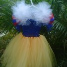 CUSTOM MADE Lil Diva Inspired  Snow White in red & blue & yellow Tutu Dress