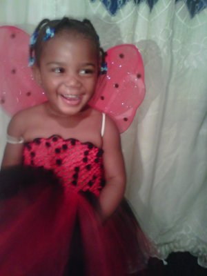 HANDMADE LADY BUG COLOR TUTU DRESS W/ WINGS