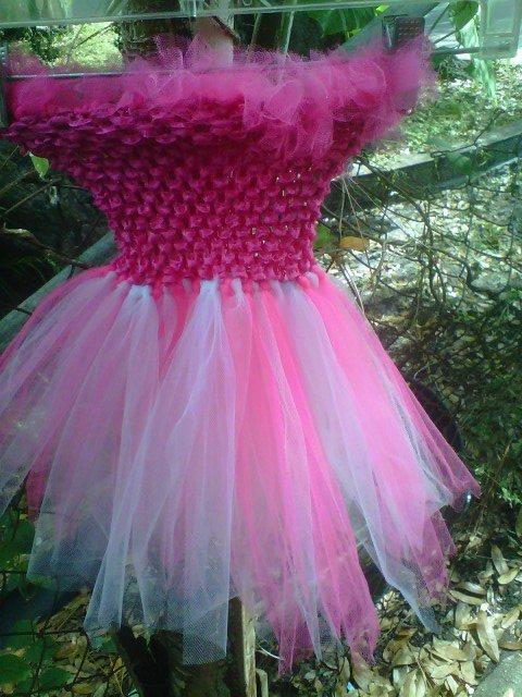 HANDMADE  SHOCKING PINK/ PINK TUTU DRESS  SIZE 6MONTHS TO T0 6X GIRL