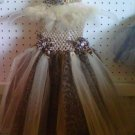 CUSTOM LEOPARD TUTU DRESS W/HEADWRAP & BOW W/RHINESTONE