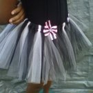 CUSTOM TUTU SKIRT PINK /BLACK  W/ BOWS  FOR A 15 YEAR GIRL 3 for $52.15