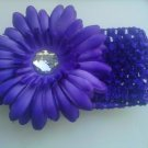 custom made purple flower headwrap