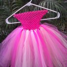 CUSTOM MADE TAN/ YELLOW/IVORY/FUSCHIA/ PINK  TUTU DRESS
