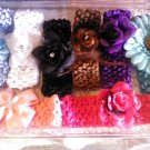 CUSTOM 8 FLOWER HEADWRAP AGE0 TO 10 YEARS OLD