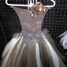 HANDMADE LEOPARD TUTU DRESS  EASTER SPECIAL $20.75